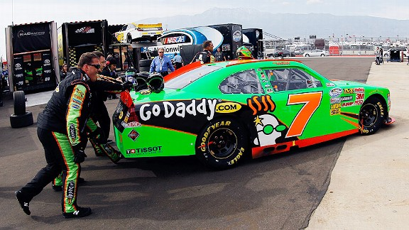 Danica Patrick and her No. 7 Chevrolet were only able to complete 63 of 150 laps Saturday due to engine failure.