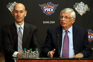 Adam Silver and David Stern were in Phoenix on Tuesday.