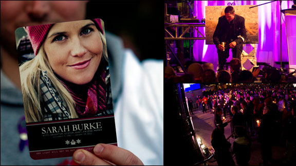 Images from the celebration of life held for Sarah Burke Tuesday night in Whistler. a class=launchGallery href=http://espn.go.com/action/photos/gallery/_/id/7800812/sarah-burke-celebration-lifeLaunch gallery/a