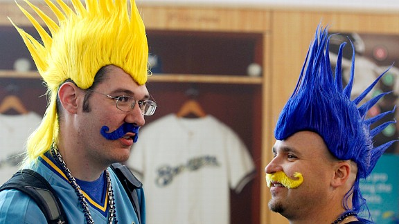 These Brewers fans show their loyalty -- starting at the top.
