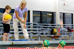 As part of McDonald's Champions of Play program, Dara Torres helps teach young kids about the importance of being active.