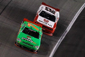 The racing history between Danica Patrick, left, and Sam Hornish Jr. began when they crashed into each other in go-karts as teenagers.