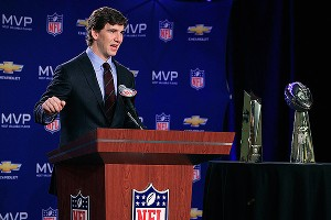 Will Eli Manning's SNL appearance help him in future appearances at the podium? Time will tell.