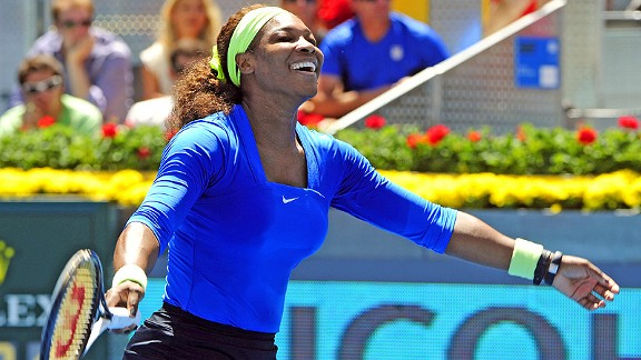 Serena Williams is 13-0 on clay this year, including last weekend's win in Madrid.