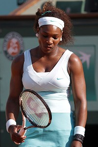 Serena Williams never looked comfortable and made 47 unforced errors in her three-set loss to Virginie Razzano.