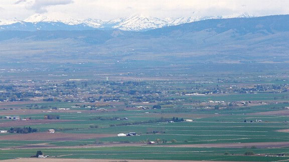 The view from Ellensburg, Washington ...