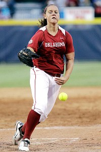 Oklahoma pitcher Keilani Ricketts struck out 16 and allowed just two hits against California.