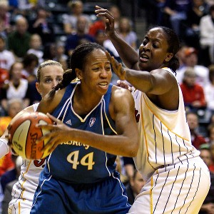 Chasity Melvin, left, who played 12 years in the WNBA, is considering jumping right into broadcasting rather than continuing to play overseas.