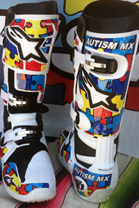 Step Up For Autism boots