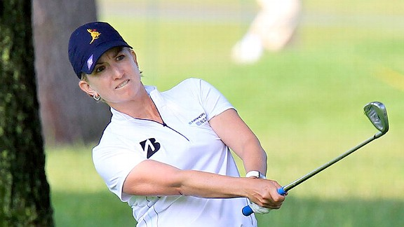 Karrie Webb, alone in second, would like nothing more than to add to her total of seven major titles.