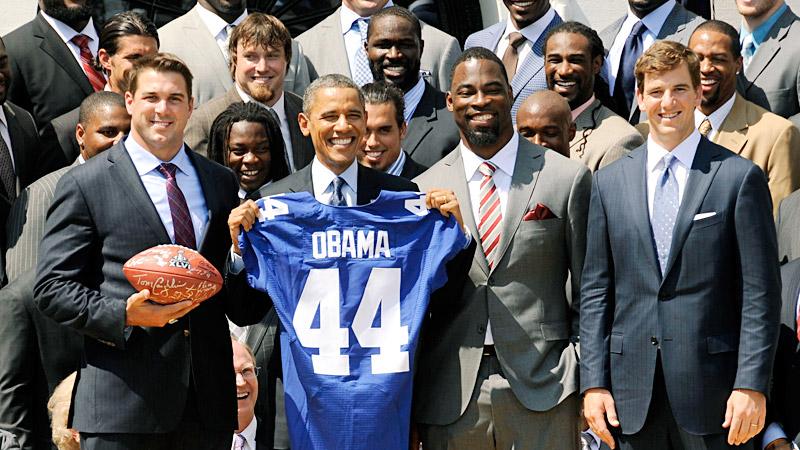 Barack Obama, New York Giants
