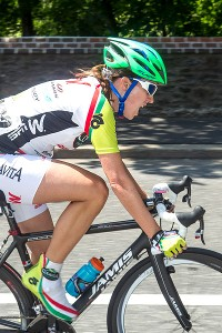 While riding in the Exergy Tour, Kathryn Bertine found new meaning in being an athlete.