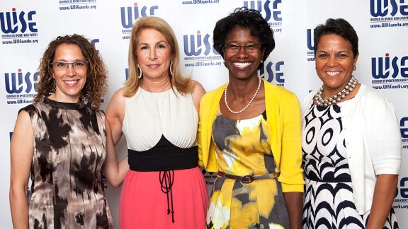 From left, Kim Williams, Marla Miller, Gail Hunter and Kathleen Francis at the WISE Awards.
