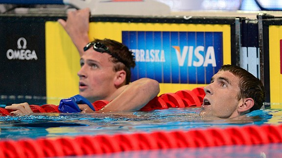 Ryan Lochte, left, and Michael Phelps captivated audiences in Omaha at the Olympic trials. Now, the stakes will be higher and so will the viewership.