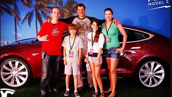 John Rokos, Mat Hoffman and the Hoffman family last week in Los Angeles, Calif.