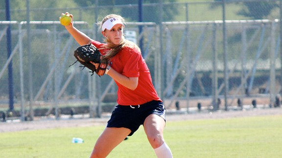 Though she didn't play at one of softball's collegiate powers, Sam Fischer showed she had big-time talent at the Team USA tryouts.