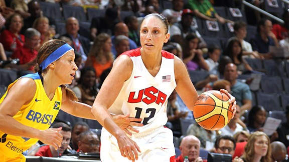 Diana Taurasi cites Brazil and its two WNBA players as one of the toughest teams in the Olympic tournament.