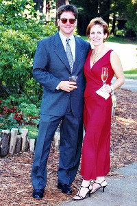 David and Elizabeth in 2001 -- 10 years after their wedding in August 1991.