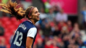 Alex Morgan will join Portland Thorns FC on a hot streak after scoring twice in the Algarve Cup final against Germany.