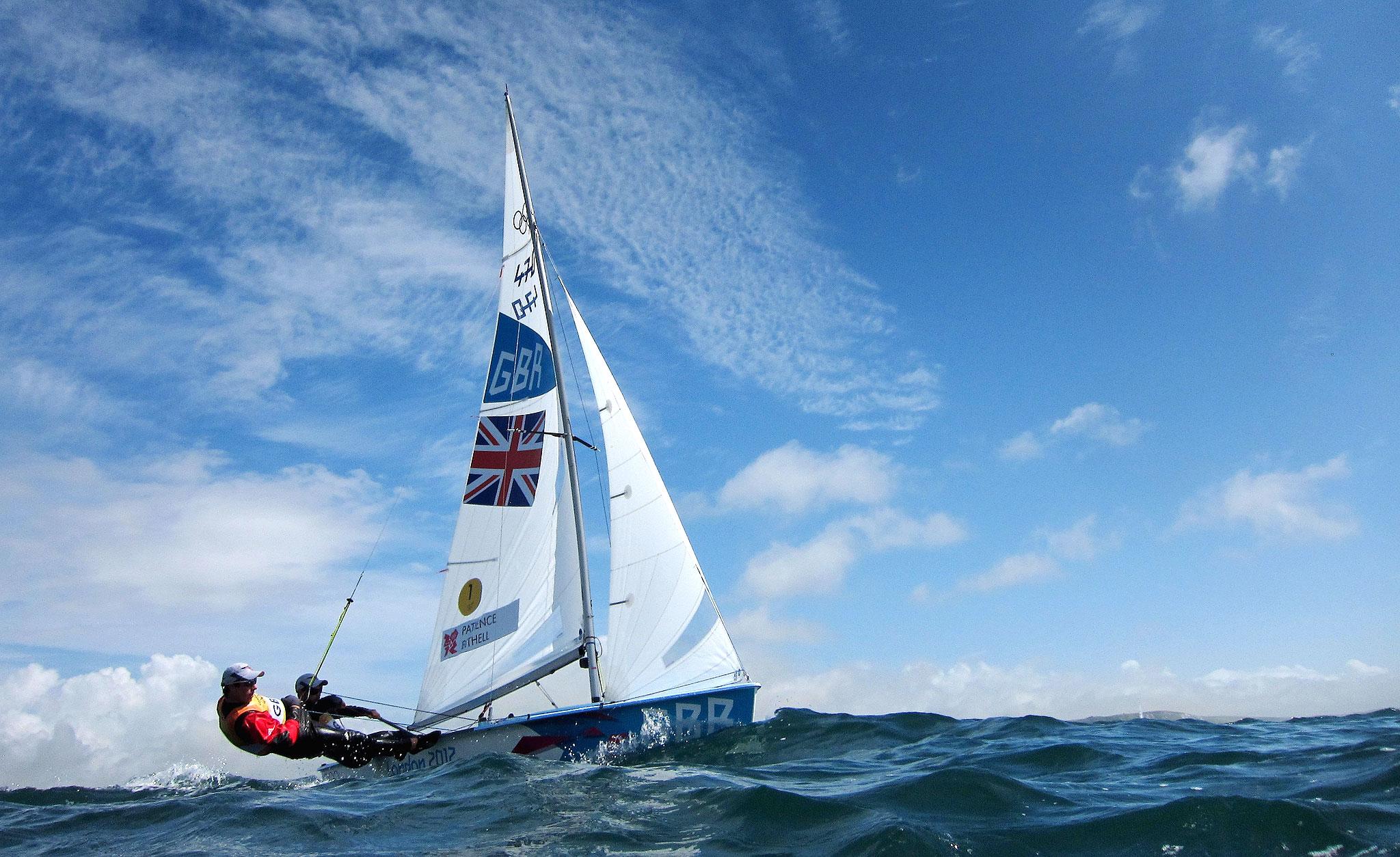 Stuart Bithell and Luke Patience sail