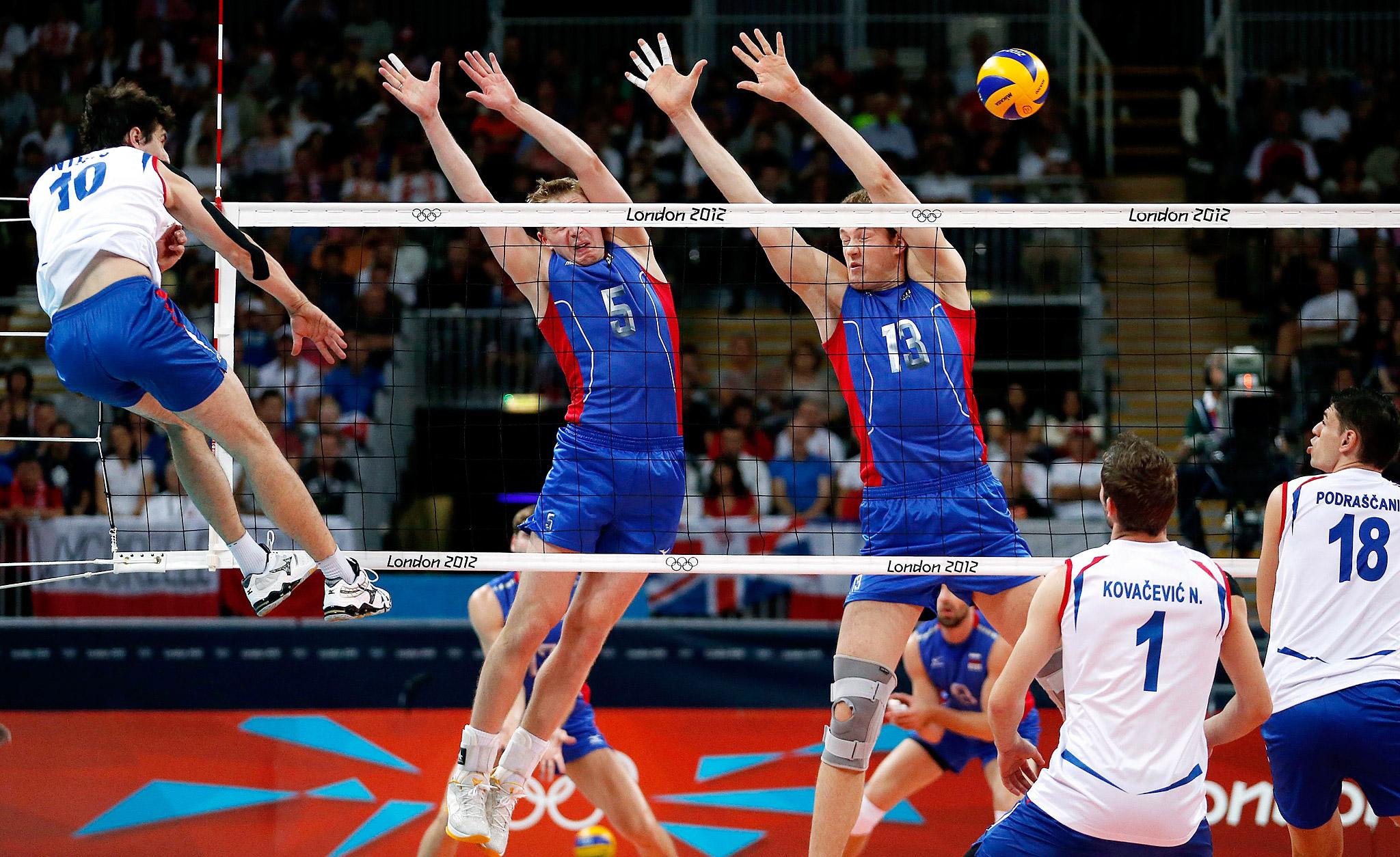 Serbia vs Russia Men's Volleyball