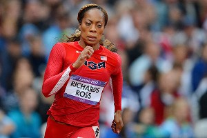 Sanya Richards-Ross won her 200 heat the day after winning gold in the 400 meters.