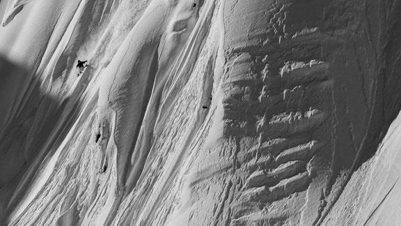 Dash Longe filming in Alaska with Teton Gravity Research.