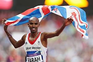 Mo Farah got to celebrate in front of the home crowd after winning the 5,000 meters gold.