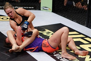 Ronda Rousey won her Strikeforce championship in March, forcing Miesha Tate to submit (and dislocating her elbow) with a signature armbar.