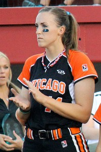 Bandits pitcher Monica Abbott had a shutout until giving up a solo homer in the seventh.