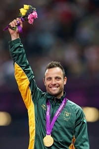 After competing in both the London and Paralympic Games, Oscar Pistorius landed his first individual gold of the summer.