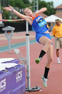 Taylor Burke had the best showing among American women in the high jump at the IAAF World Junior Championships over the summer.