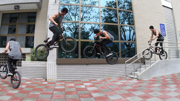 Effortless 360 to feeble on a Nike BMX trip in Taipei, Taiwan earlier this year.