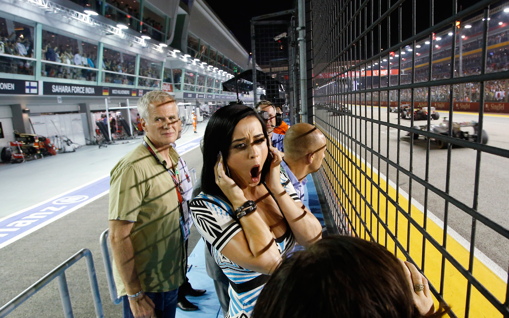 Katy Perry at Singapore F1 Grand Prix