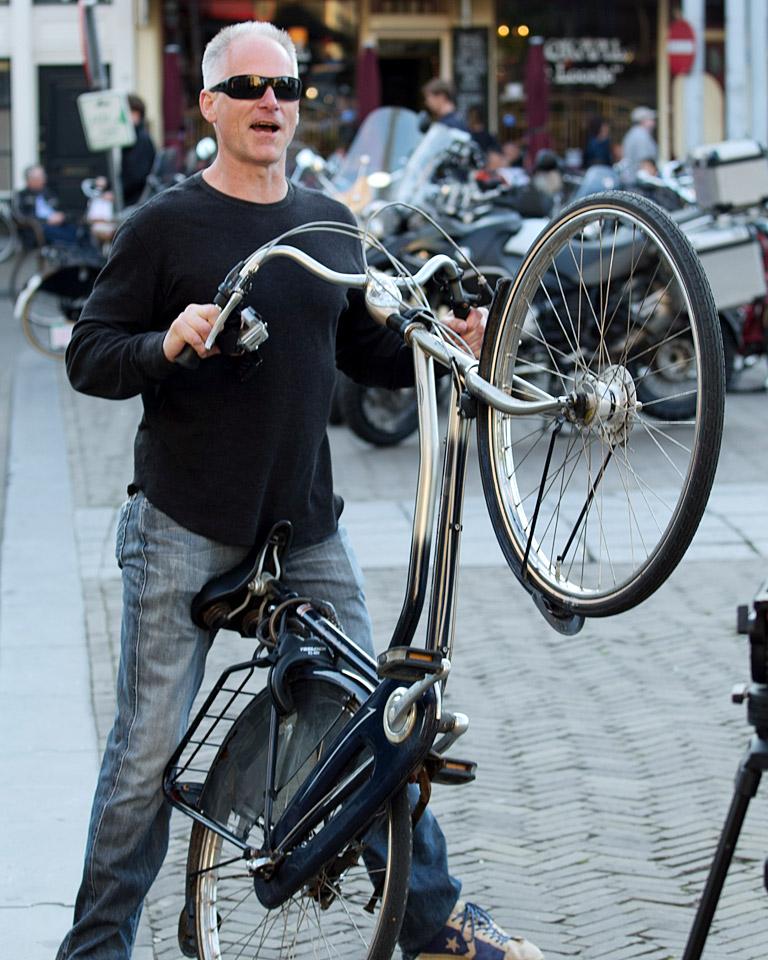 Kenny with bike