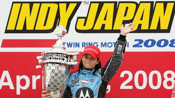 A fuel-conservation tactic helped Danica Patrick outlast the other cars in Motegi, Japan, in 2008, as she became the first woman to win a major North American-series professional race.