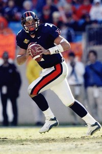 At Virginia, Schaub played in a two-quarterback system.