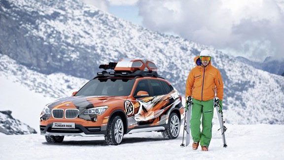 Introducing the new BMW K2 Powder Ride, a car designed for skiers.