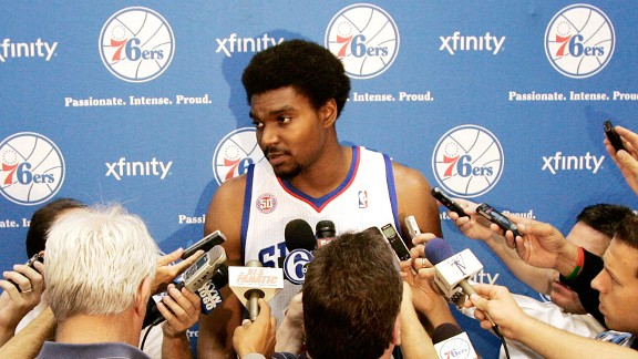 Maybe Andrew Bynum doesn't know his way around Philadelphia yet. Someone needs to point him to a good barber.