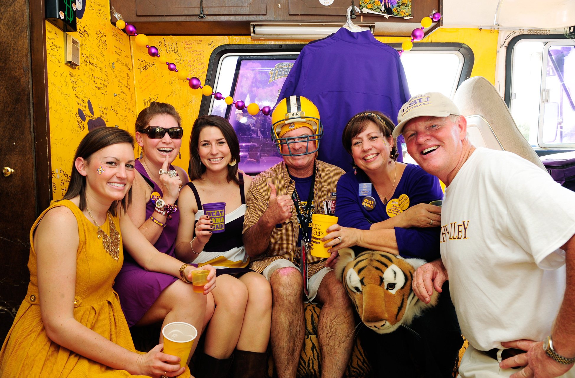 LSU Fans Inside RV