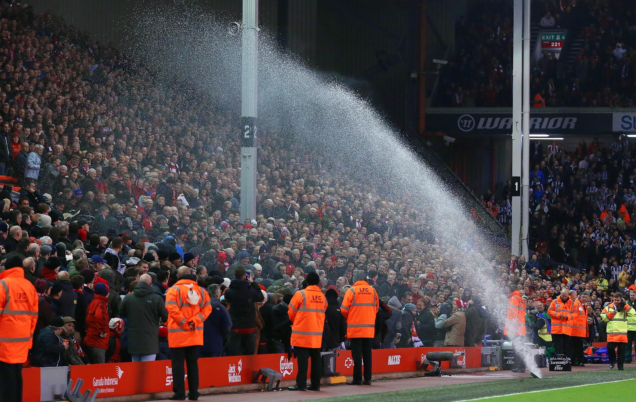 Sprinklers at Anfield