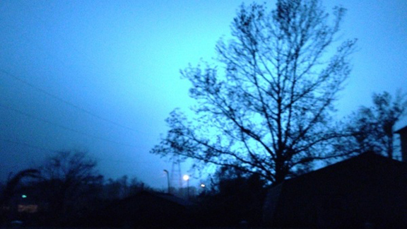 Here's the sky being lit blue as transformers were going, says Cranmer.