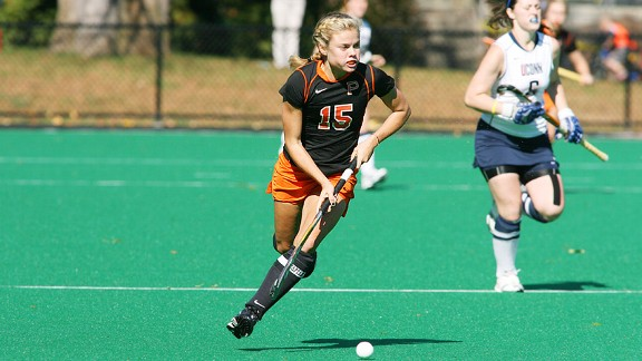 Princeton's Kathleen Sharkey led the NCAA in scoring this season with 35 goals.