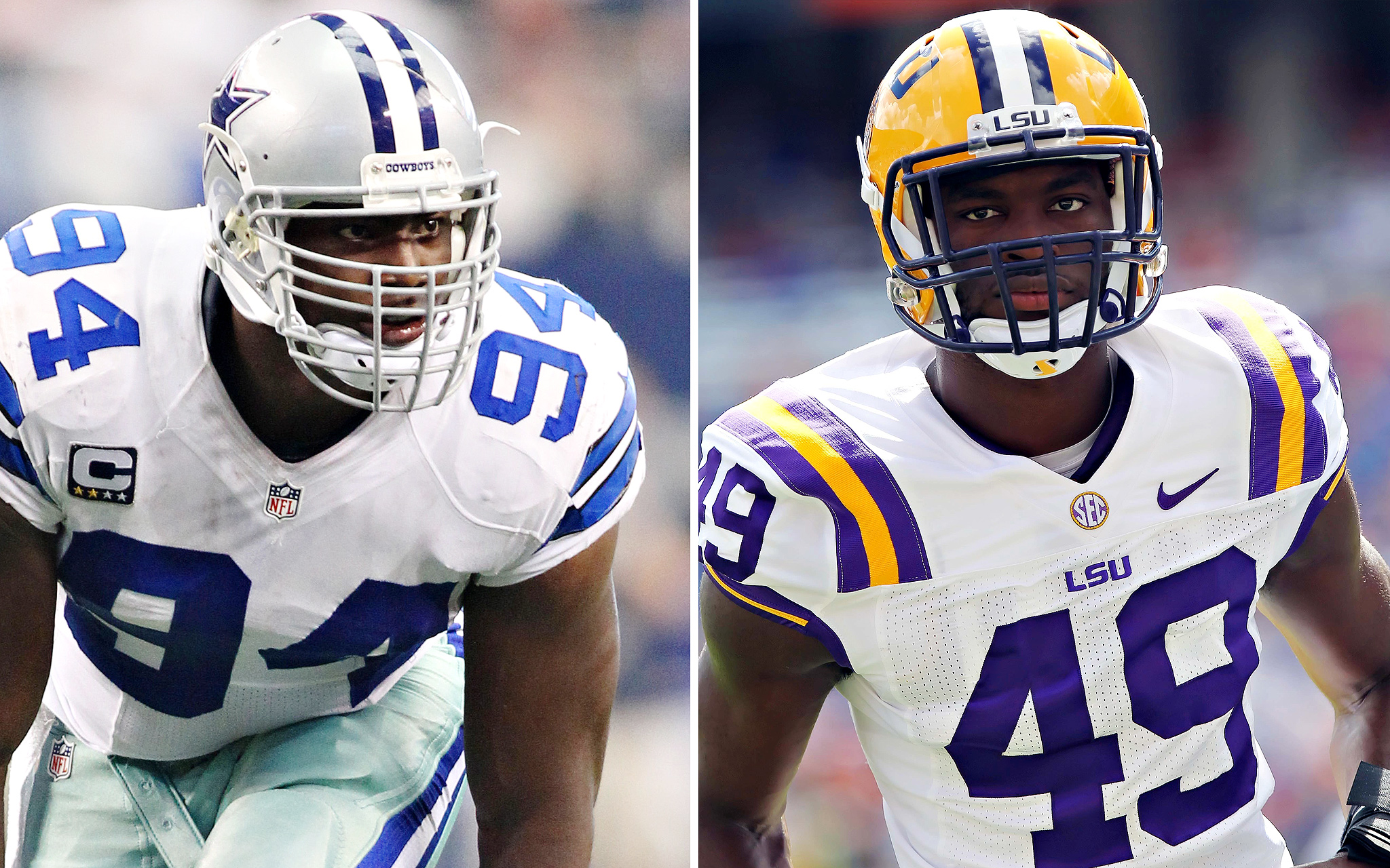 DeMarcus Ware, Dallas/Barkevious Mingo, LSU