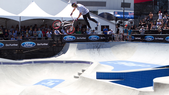 Brett Banasiewicz during BMX Park at X Games Los Angeles 2012.