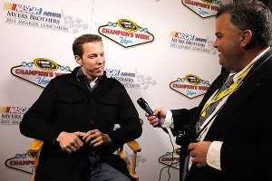 Brad Keselowski caught flak from several Chase drivers for wearing an untucked shirt and jeans to the 2011 Myers Brothers Awards Luncheon.
