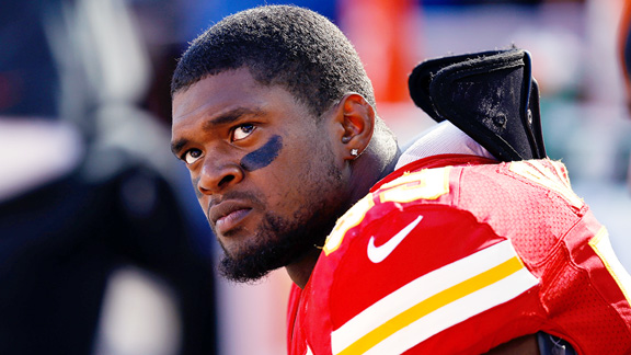 Jovan Belcher at the Chiefs' game against the Broncos last year, just days before he killed his girlfriend, then took his own life.