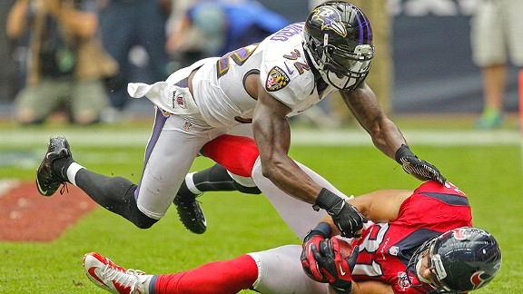 Listed as a defensive back, the Ravens' James Ihedigbo has showed he's willing -- and ready -- to step in at any position.