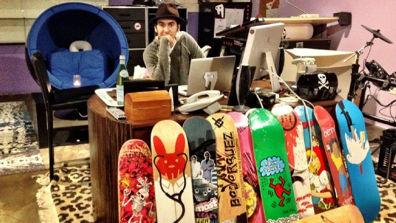 Dhani Harrison at the office