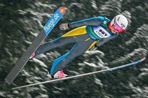 Sarah Hendrickson returned to her skis after undergoing surgery in April.